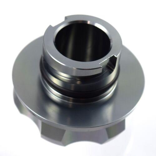 Emblem Factory Filled For Ford 1//4 Turn Gunmetal Racing Engine Oil Cap Filler
