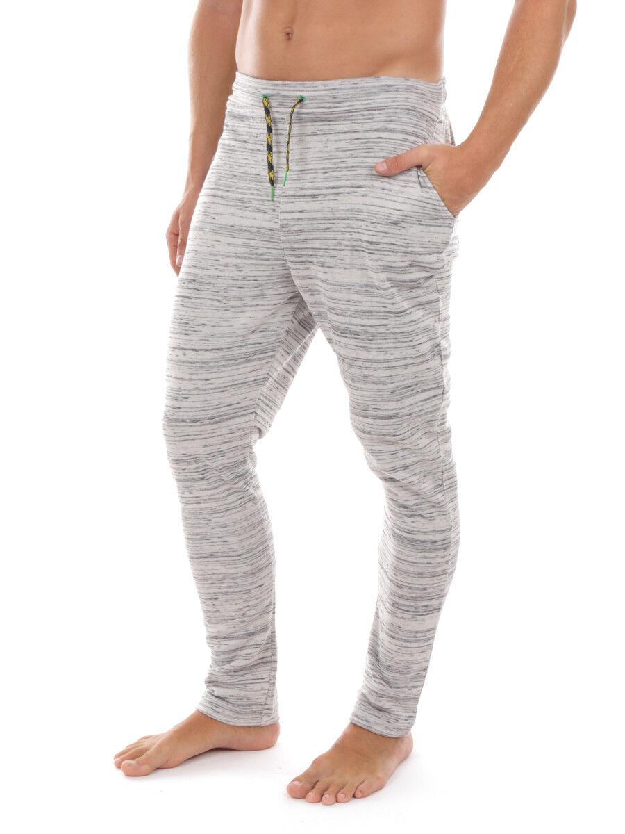 PrimeMotion sweat pants leisure pants jogging pants grey pattern drawstring