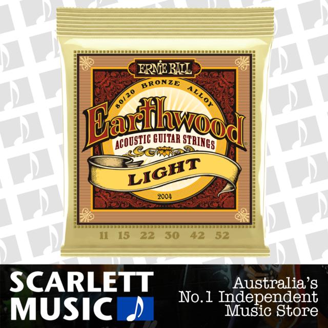 Ernie Ball Earthwood 2004 80/20 11-52 Light Acoustic Guitar Strings *BRAND NEW*