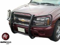 Fits 2002-2009 Chevy Trail Blazer Grill Brush Guard Push Bar Black