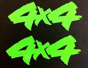 LIME GREEN 4X4 OFF ROAD DECAL STICKER TRUCK FORD F-150 CHEVY SILVERADO DODGE RAM