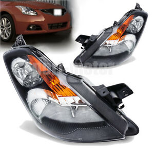 For 2007 2008 2009 Nissan Altima Black Factory Style Replacement Headlights Pair 659514663883