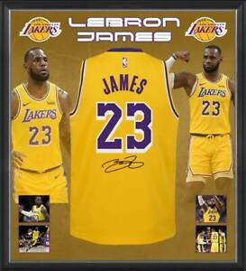 buy popular 6afa4 6a0e9 Details about LEBRON JAMES HAND SIGNED LOS ANGELES LAKERS JERSEY NBA  BASKETBALL CAVS HEAT