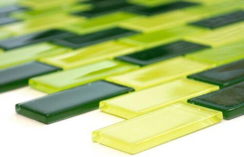 Glasmosaik halbverband Vert Clair//Vert//Vert Foncé bain mur66-0506/_f10 nattes