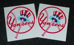 Lot of (2) 1970's/80's NY Yankees Unused Bumper Stickers-EM/NM
