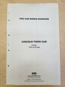 1992 Ford Lincoln Town Car Wiring Diagrams (F2VB) FPS ...