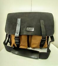 Belstaff England Men's Eastbury Leather & Canvas Bag