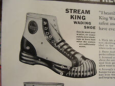 Original Double size, single sided RUBBER CO. ad sheet, STREAM KING WADING SHOE