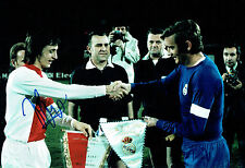 Johan CRUYFF SIGNED Autograph 12x8 Photo AFTAL COA Ajax v Real Madrid Football