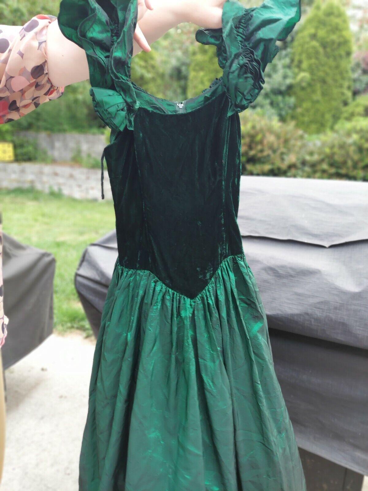 Green Velvet Gunne Sax Dress Vintage - image 1