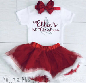 MILWAY Baby Girls Christmas Plaid Skirt Tutu Bow Dress 70//0-6 Months, red