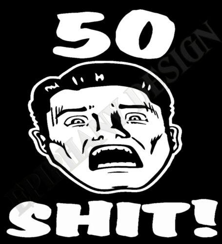 50e Anniversaire T-Shirt 51e 52e Hommes Femme Visage 45e 40e 60e 3XL 4XL 5XL 30e