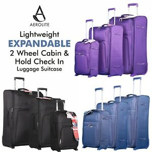 Aerolite-Lightweight-2-Wheel-Cabin-amp-Expandable-Hold-Check-In-Luggage-Suitcase