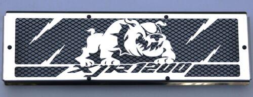 "cache Grille de radiateur inox poli 1200 XJR /""Bulldog/"" grillage noir"