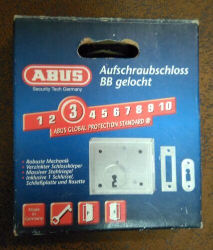 pour jardin portes ou meubles ABUS aufschraubschloss AAS BB avec serrure à clé clé