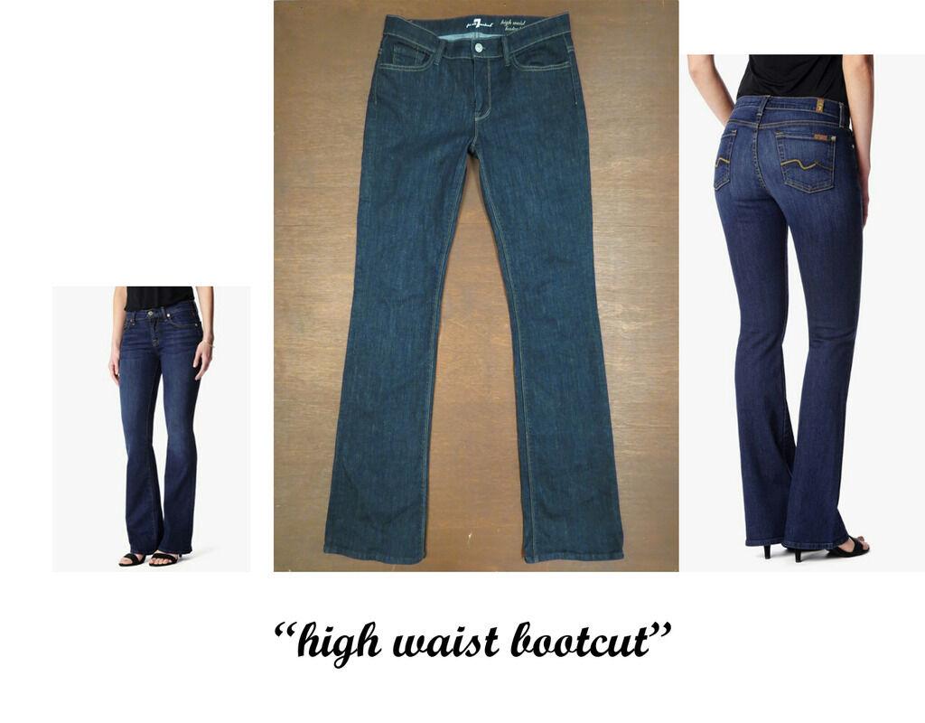 7 For All Mankind  High Waist Bootcut  Dark Wash Jeans sz 30