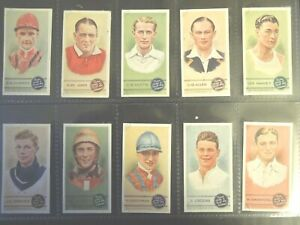 1937 SPORTSMEN-SPOT THE WINNER sports Tobacco Card Set of 50 cards lot vintage