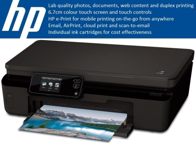 HP Photosmart 5520/5524 e-All-in-One WiFi Copy Scan Photo Printer Touch e-Print
