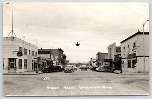 Baudette-MN-Main-Street-Liquor-Store-Stoddard-039-s-Variety-Grand-Theatre-1950s-RPPC