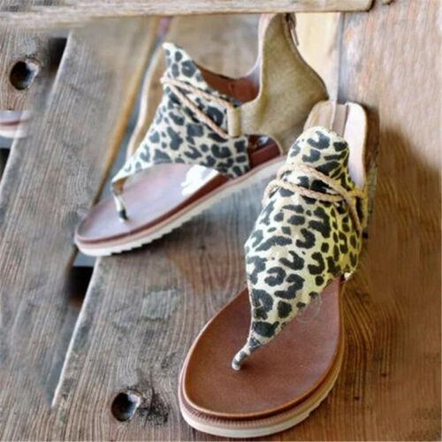 Women Flat Sandals Breathable Anti-slip Back Zipper Open Toe for Summer