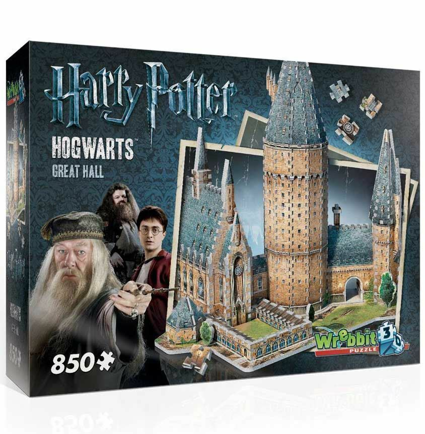 Wrebbit Harry Potter Hogwarts Great Hall 3D Model Jigsaw Puzzle  (850 Pieces)