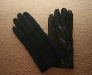 f6e66e5670b J.CREW LEATHER GLOVES WITH BLACK WATCH SIZE S F8792