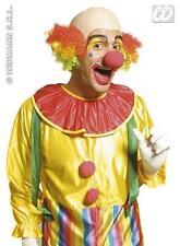 Rainbow Hair Clown Wig With Bald Spot Circus Halloween Fancy Dress