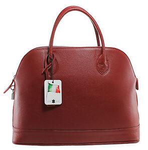 Vera 1 Pelle Made Italy Da Grande In Donna Classica Borsa Rosso 5197 Elegante 4R3jc5AqLS