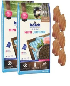 2x15kg Mini-chiots Bosch Junior Petites Courses 6 Oreilles de Lapin