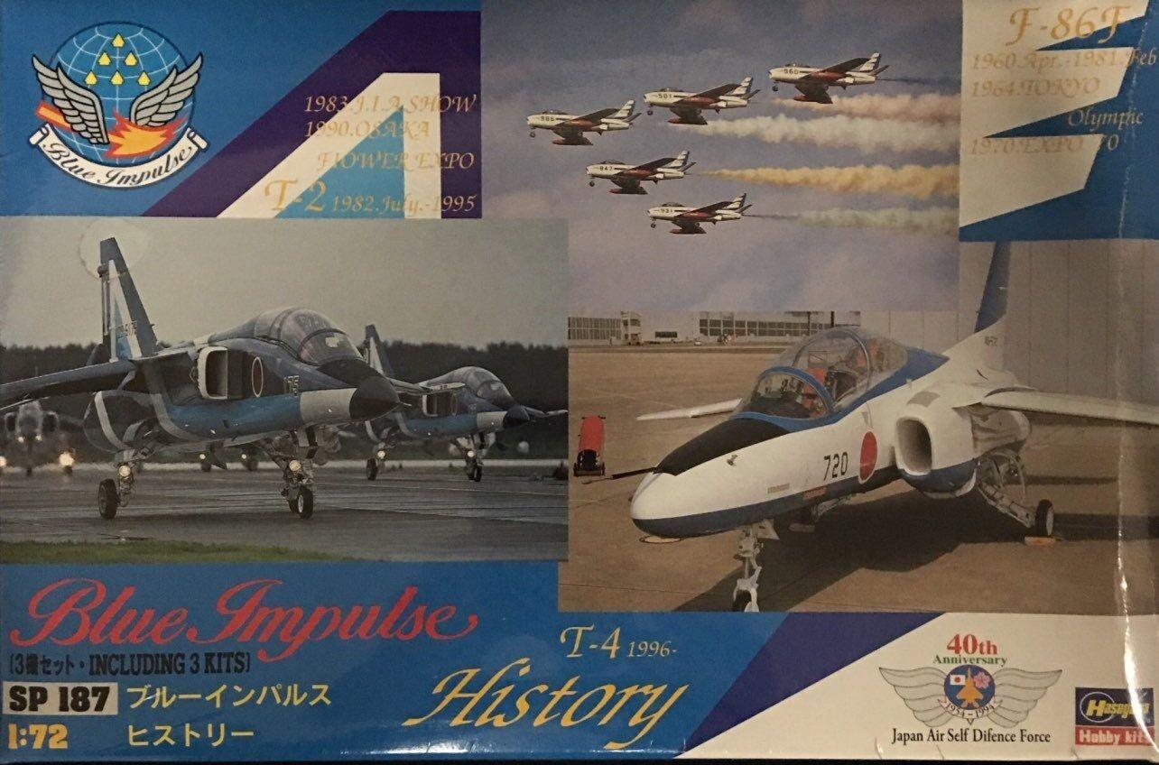 Hasegawa - 1 72 bluee Impulse T-4, F-86, T-2 (Combo 3 kits in on) - HAS-51878