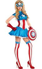 The Avengers Captain America Dream Female Adult Costume Size Large 10-12 New 586