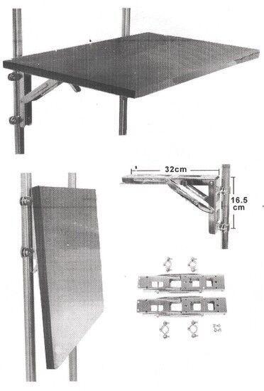 Einklappbarer Arm für Klapparm Tische Klapparm für Klapptisch heavy duty Edelstahl bis 150kg d66fdc