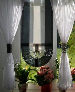 Moderne Rideaux Salon Décoration pour Fenêtre Noir Fenêtre 80 -140 ...