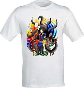 Bambini 2 - 16 Anni T-shirt Maglietta Favi J Favij Tv Nuovo Logo Lorenzo Youtuber Fan Bambino: Abbigliamento