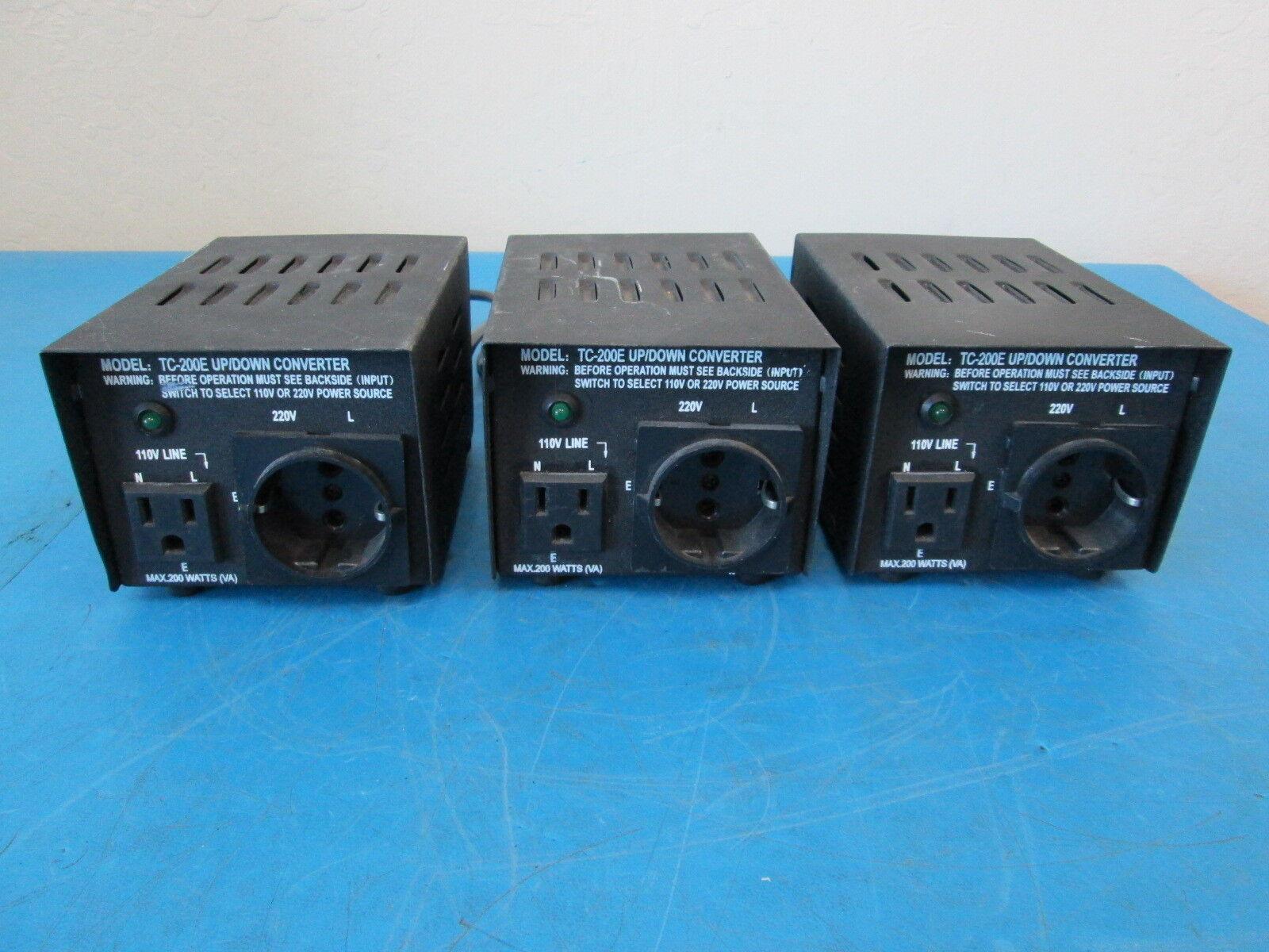 LOT OF 3 TC-200E Up/Down Converter Max 200W
