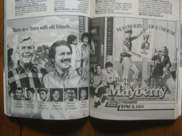1986 TV Guide(RETURN TO MAYBERRY/BETTY LYNN/ANETA CORSAUT/DON KNOTTS/ROCK HUDSON