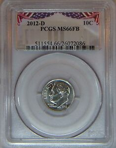 2012-D-PCGS-MS66FB-Roosevelt-dime-Full-bands-Bunting-label