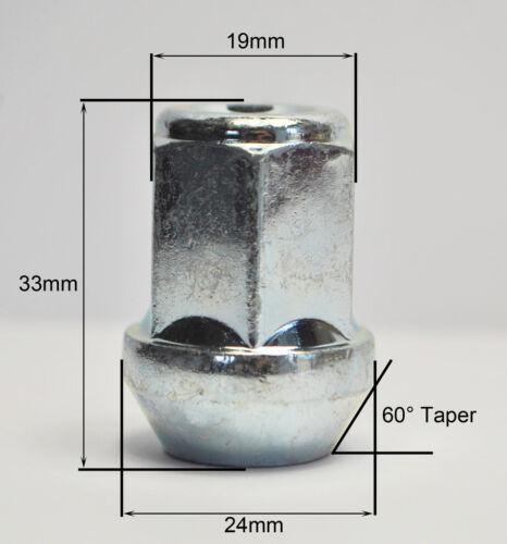 4 x lega ruota dadi M12 x 1,5 19mm Hex per FORD KA