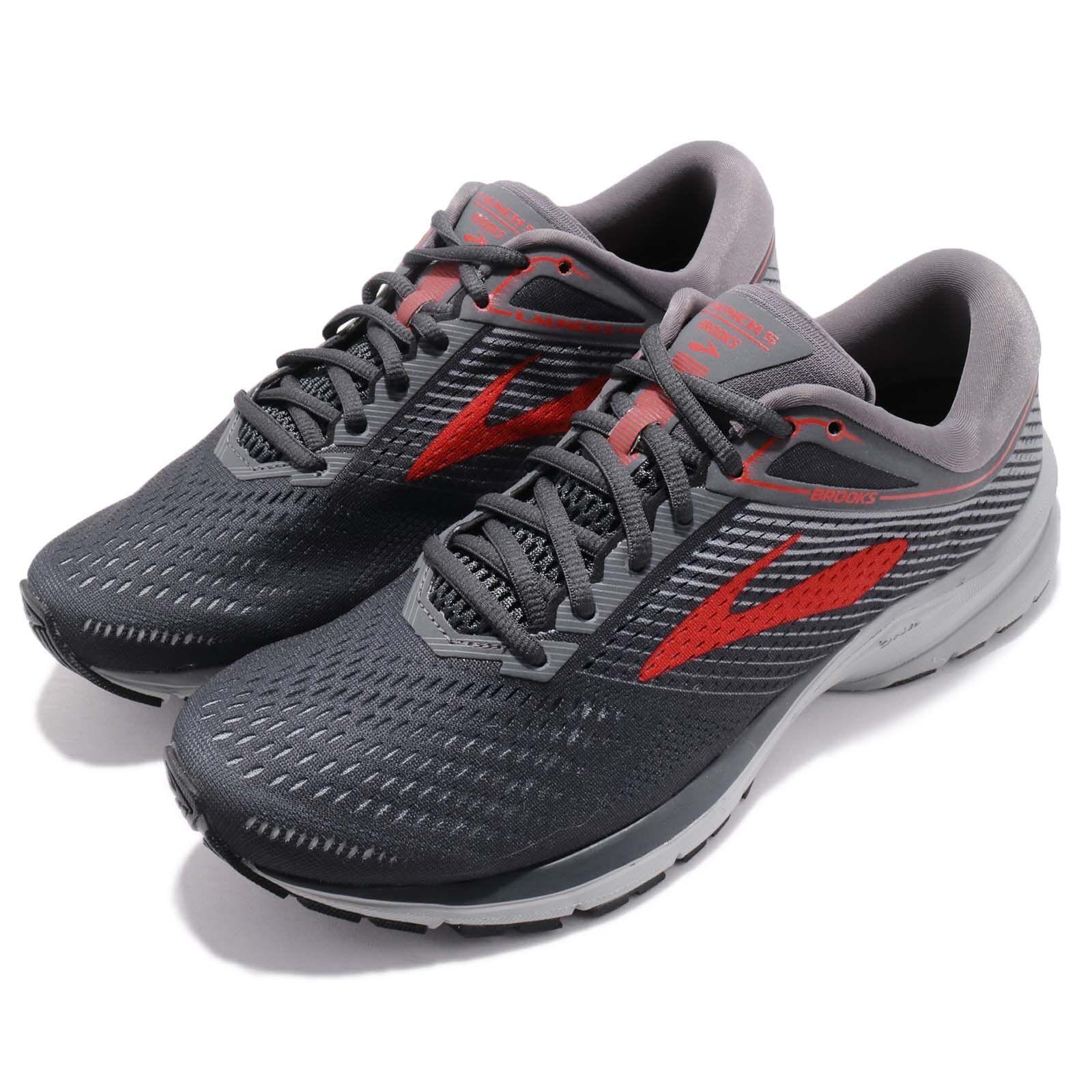 Brooks Launch 5 V grau rot Sie Marathon Laufen schuhe Turnschuhe 110278 1D