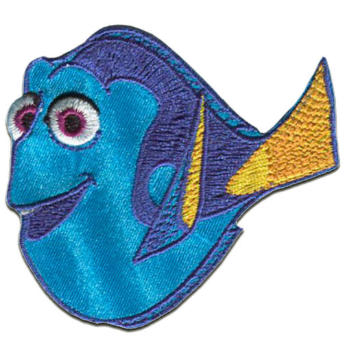 Iron on patches - FINDING DORY DORY - blue - 6,2x6,8cm - Application Embroided