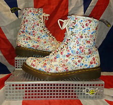 Rare*White Vintage Flowers Dr Doc Martens*Victorian*Floral*Quirky*Ditzy*Hippy*5