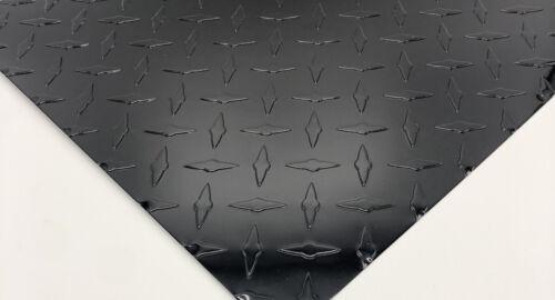 "24/"" x 96/"" BLACK Aluminum Diamond Plate .025 Stone Guard J Trim Package"