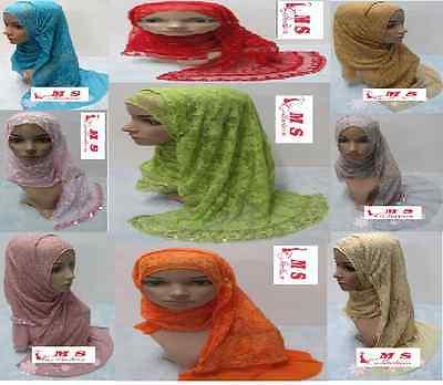 Face veil Calligraphy Hijab Dubai Abaya Islam muslim Long Scarfs Rhinestone Bana