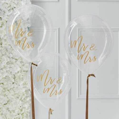 Mr and Mrs Latex Helium Balloons Gold Wedding Anniversary Party Decorations