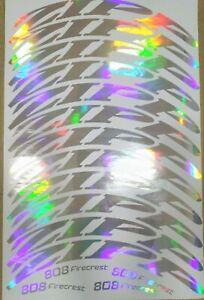 Rim disc brake HED Jet 9 wheels Decals Set.Rainbow chrome,gold.All color