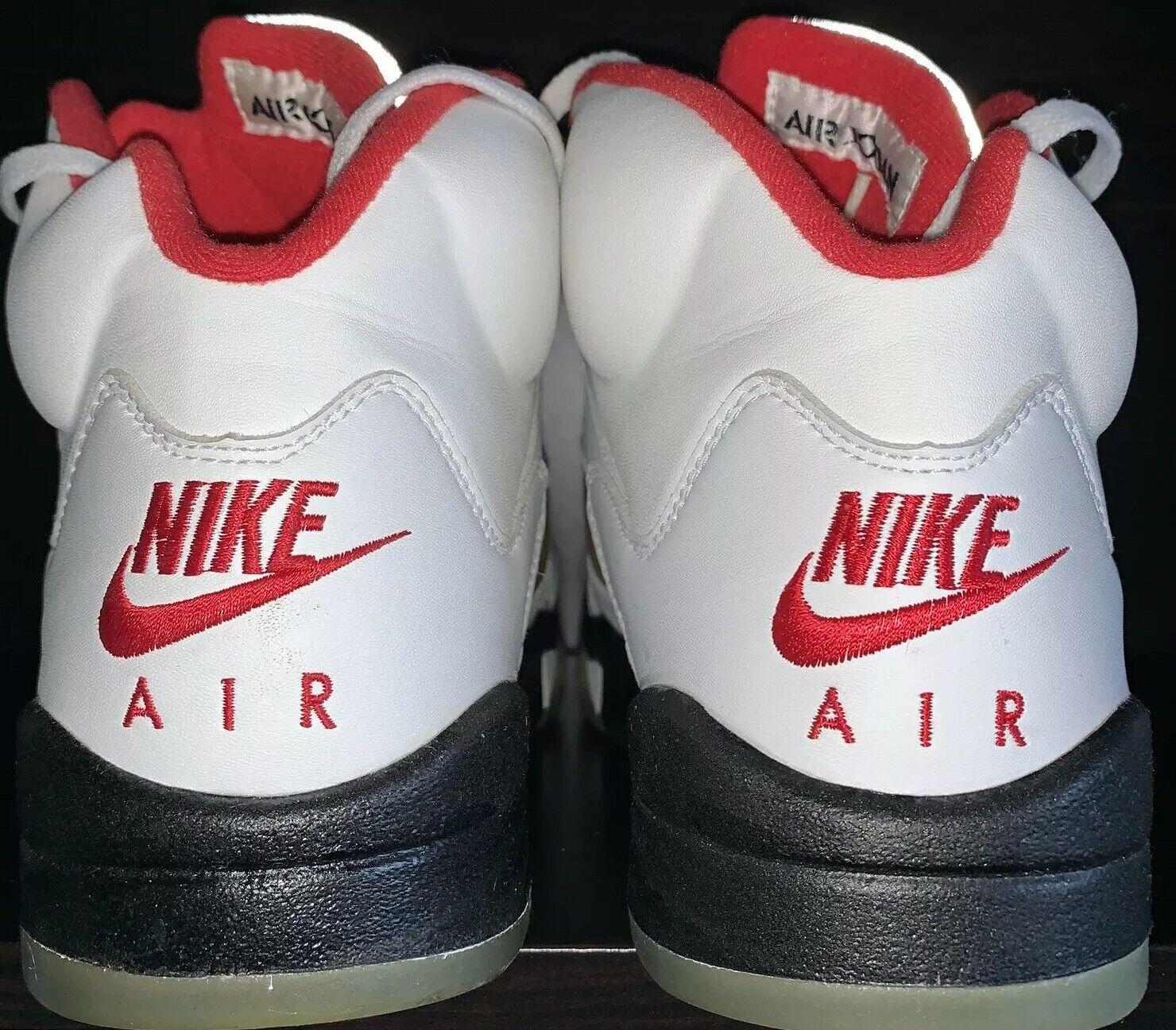 Nike Air Jordan 5 1999 Fire Red Mens 9 Silver Box Launch No Crumbling Deadstock