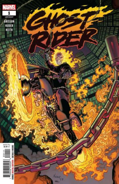 GHOST RIDER #1 KUDER A COVER NM VF STOCK IMAGE