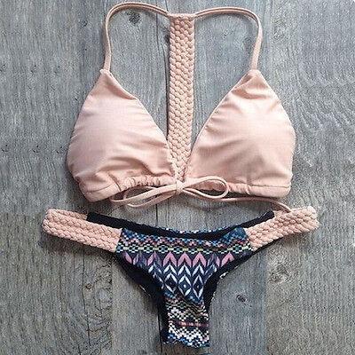 Women's Bandage Bikini Set Push-up Padded Bra Swimsuit Bathing Suit Swimwear Hot