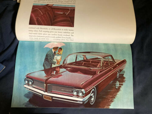 1962 Pontiac Catalina Bonneville Star Chief Ventura Catalog Brochure Prospekt