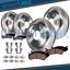 Ceramic Pad for 2005-2011 2012 Nissan Pathfinder V6 Front /& Rear Brake Rotor